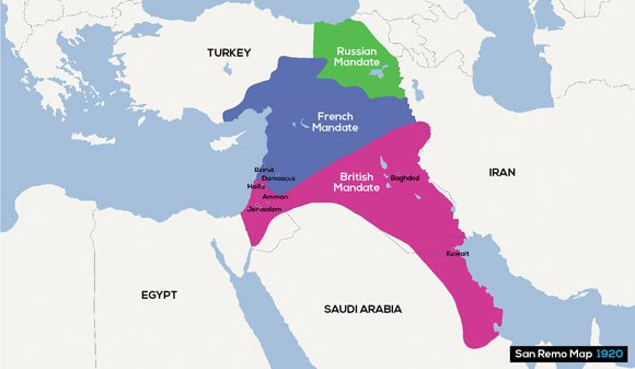 British lies to the arabs in world war i sykes picot agreement map gumiabroncs Image collections