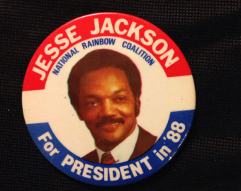 JESSE JACKSON 1987 ANNOUNCEMENT FOR PRESIDENT